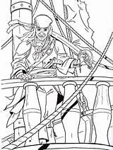 Coloring Pirates Pirate Printable Popular sketch template