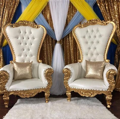 gold throne chairs rental houston love  parties