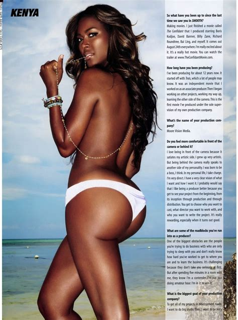 Kenya Moore Former Miss Usa Takes It Off Black Celebs