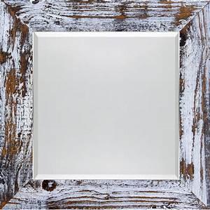 Spiegel Weiß Holzrahmen : spiegel im used look wei schwarz 5cm facette quadratisch ~ Indierocktalk.com Haus und Dekorationen