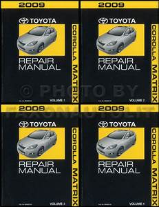 2009 Toyota Matrix Repair Manual 4 Volume Set Oem Shop Service Books S Xr Xrs