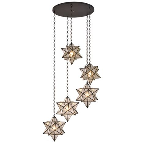 Meyda 99178 Moravian Star Multi Pendant Ceiling Fixture