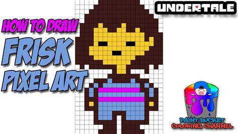 draw frisk pixel art  bit drawing undertale