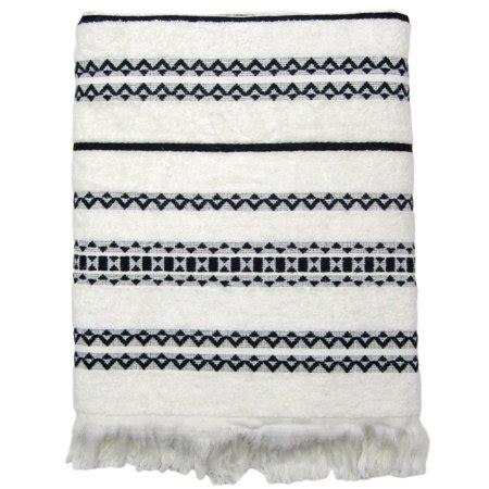 black and white towels bathroom better homes gardens tribal chic bath towel walmart 22757