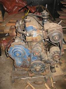 Ford 4 Cyl Industrial Diesel Engine   Used   Runs Good