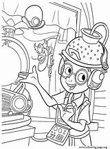 Coloring Science Pages Printable Meet Robinsons Sheets Fair Mad Scientist Hat Lab Bowler Guy Colouring Lewis Disney Sabotage Fun Robinson sketch template