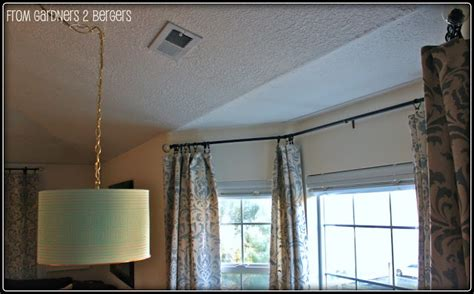 electrical conduit bay window curtain rod from gardners 2 bergers diy curtain rods sliding glass