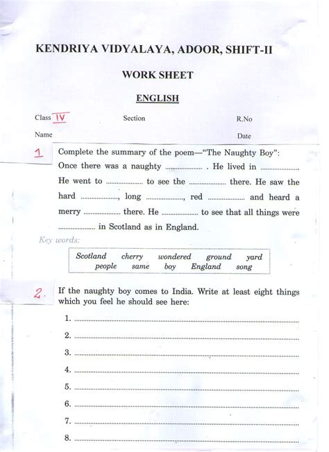 worksheets for class 1 cbse free