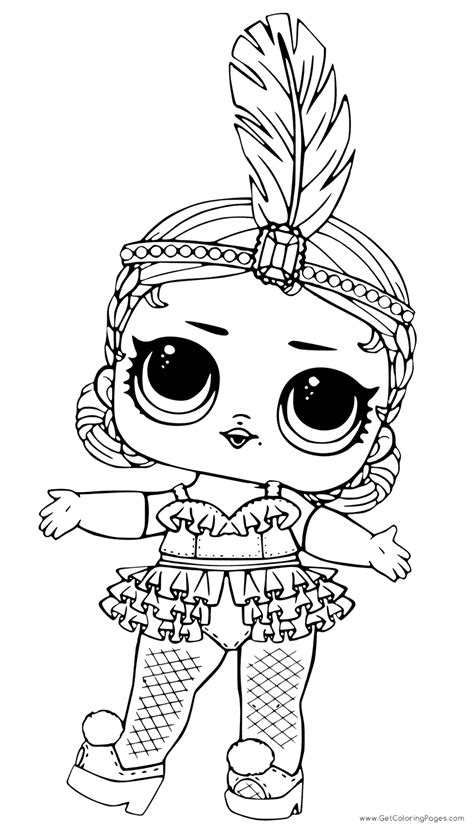 coloring  drawing princess lol doll coloring pages