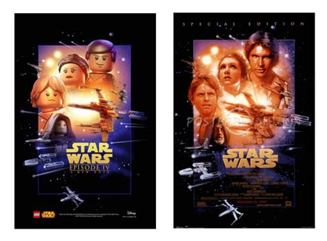 Legos Awakens The Force With Tribute Star Wars Posters