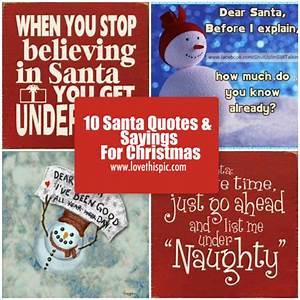10 Santa Quotes & Sayings For Christmas