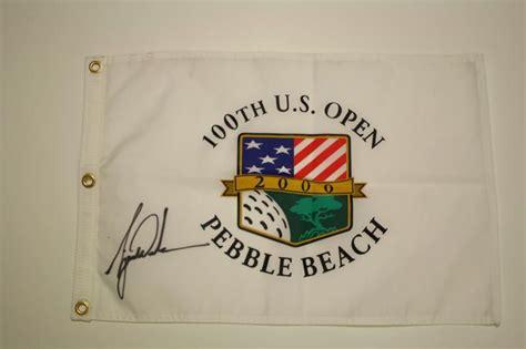 Lot Detail - Tiger Woods Autographed 2000 US open Pebble ...