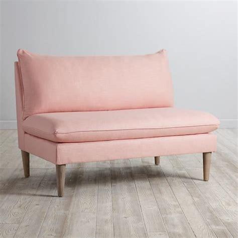 Pink Velvet Settee dyed pink velvet settee