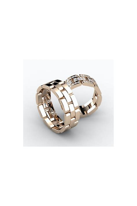remarkable chain shape wedding ring with diamonds