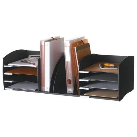 module bureau paperflow organiseur de bureau 8 cases noir module de