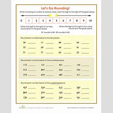 Let's Go Rounding!  Worksheet Educationcom