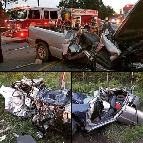 Two Victims Freed From Horrific Car Accident