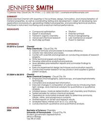 pharmaceutical chemist resume sles professional chemist templates to showcase your talent myperfectresume