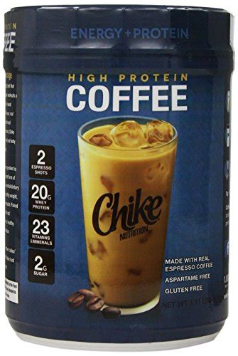 Made with real espresso coffee, high protein coffee is rich in flavor, loaded with 20g whey protein, and 22 different vitamins and minerals all the while remaining aspartame free. Cheapest Price! Chike Nutrition High Protein Coffee, 1.1 Pound : Man Health Issue