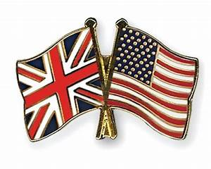 Buy British and American Crossed Flag Lapel Pin | UK and ...