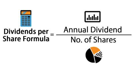 dividends  share formula calculator excel template