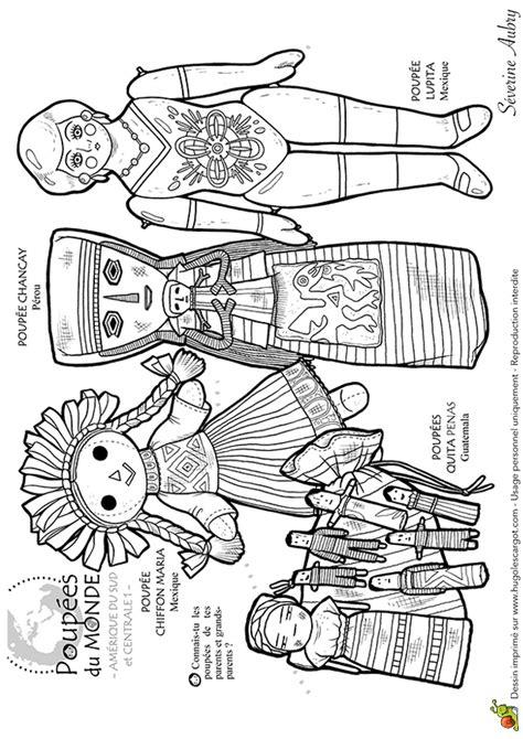 2 c est au programme cuisine dessin à colorier poupées du monde amérique du sud et centrale