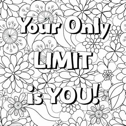 Coloring Pages Word Laugh Printable Inspirational Quotes