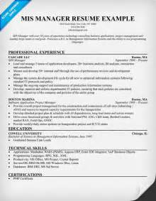 mis executive resume sle cribaupf application manager resume builder