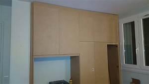 Fabriquer Sa Porte Coulissante Sur Mesure : comment fabriquer un placard sur mesure le briconaute ~ Premium-room.com Idées de Décoration