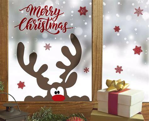 Fenster Deko Weihnachten by Fenstersticker Wandsticker Aufkleber Elch Rentier