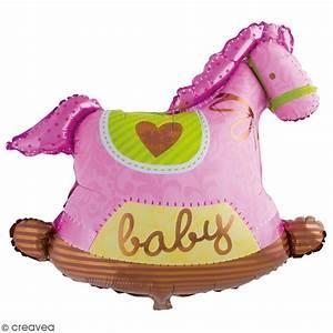 Cheval A Bascule Rose : ballon aluminium baby cheval a bascule rose 1 pce ~ Teatrodelosmanantiales.com Idées de Décoration