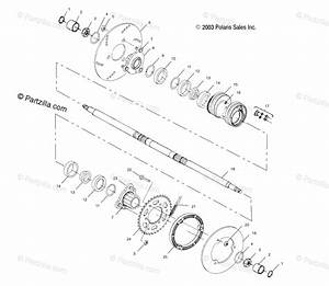 Polaris Atv 2004 Oem Parts Diagram For Rear Housing