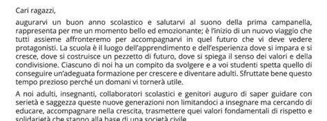 Comune Di Pagani Ufficio Anagrafe by Lettera Sindaco Per L Inizio Nuovo Anno Scolastico