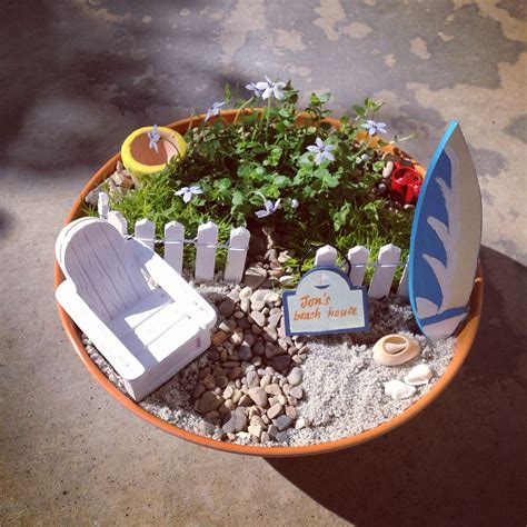 beach gardens ideas  pinterest miniature