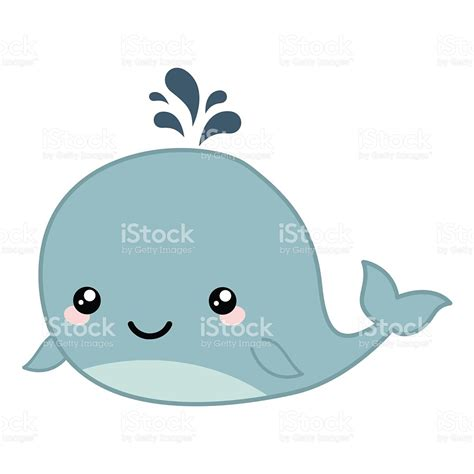 cute whale clipart vecot collection
