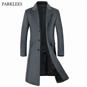 Aliexpress.com : Buy Extra Long Wool Trench Coat Men 2017 ...