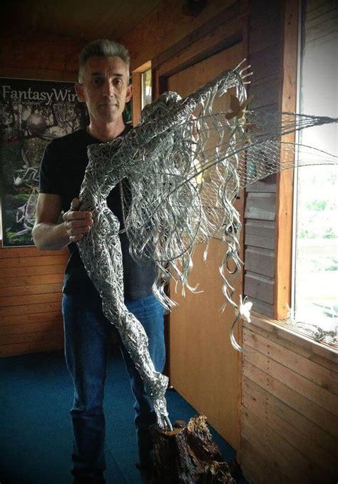 stunning fantasy wire sculptures  fairies  robin wight