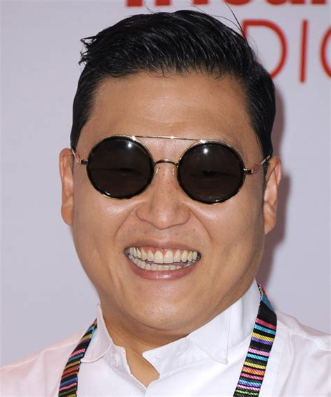 PSY Short Straight Formal Hairstyle   Black Hair Color