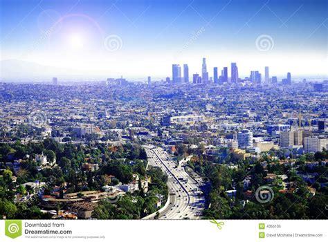 Downtown Miami Skyline Wallpaper Sunny Los Angeles Royalty Free Stock Photo Image 4355105