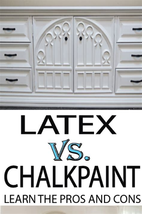 Chalk Paint vs Latex Paint on Furniture   Painted