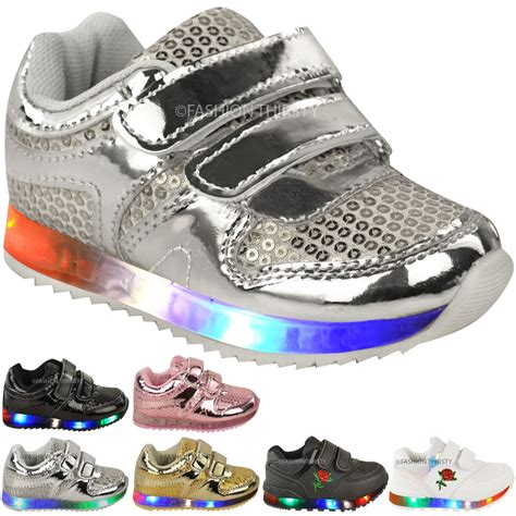 light up shoes size 4 new babies led light up trainers strappy