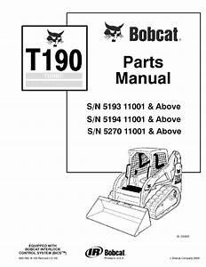 Bobcat T190 Turbo Tracked Skid Steer Loader Parts Manual