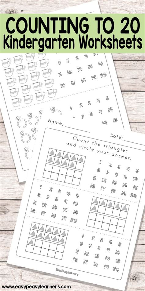 best 25 counting to 20 ideas on kindergarten 210 | f75d39d02bceda2042b19e8bbaadc26f counting to kindergarten math worksheets