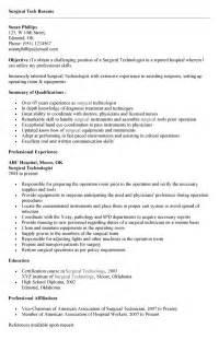 surgical resume sle sterile service technician resume sales technician