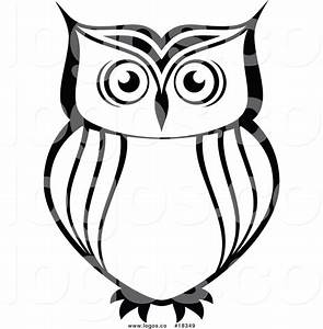 Royalty Free Vector Logo of a Simple Black and White Owl ...