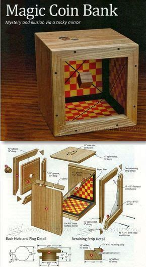 wooden coin bank plans woodworking plans  projects
