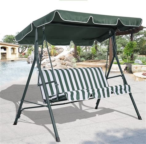 metal swing frame outdoor furniture garden patio swing chair hammock with metal frame and shade