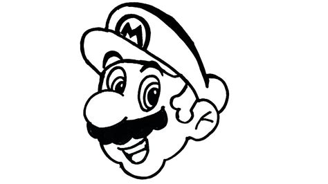 draw mario cartoon characters drawing easy step