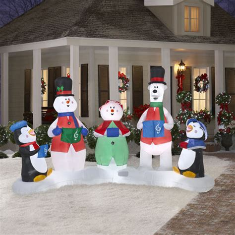 gemmy christmas 10 w airblown inflatable winter carolers