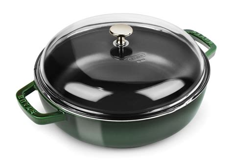 staub lid glass universal pan basil domed pans quart cutlery brand cutleryandmore paella